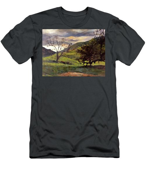 Clouds And Cattle Men's T-Shirt (Athletic Fit)