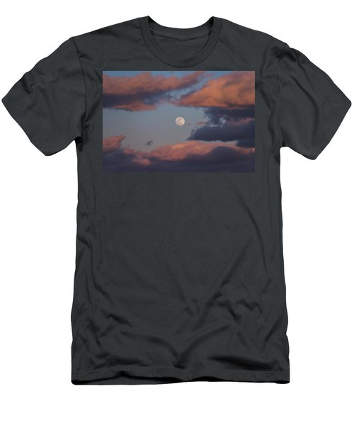 Men's T-Shirt (Slim Fit) featuring the photograph Clouds And Moon March 2017 by Terry DeLuco