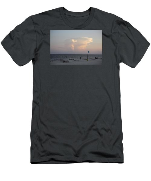 Men's T-Shirt (Slim Fit) featuring the photograph Clouds At The Beach by Donna G Smith