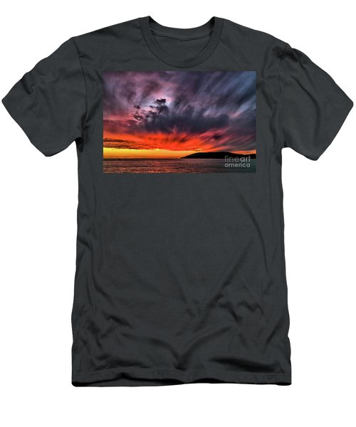 Clouds In Motion Before The Storm Men's T-Shirt (Slim Fit) by Vivian Krug Cotton