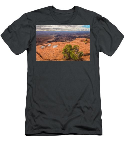 Clouds Junipers And Potholes Men's T-Shirt (Athletic Fit)