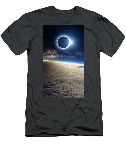 Clouds Milky Way Eclipse Light 68883 1080x1920 Men's T-Shirt (Athletic Fit)