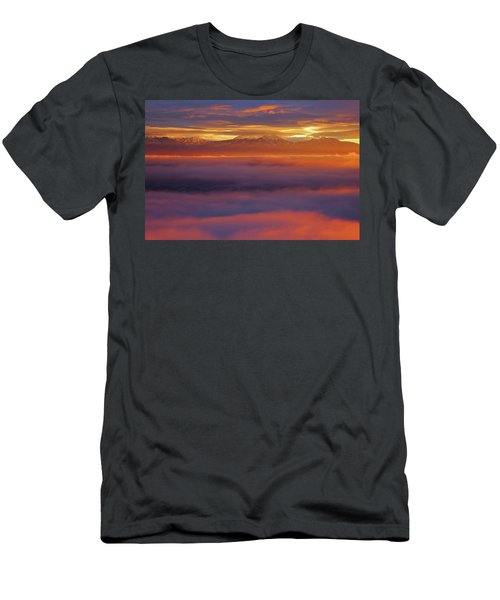 Clouds Of Fire Surround The La Sal Mountains From Dead Horse Point State Park Men's T-Shirt (Athletic Fit)