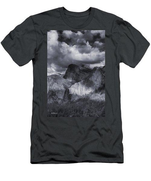 Clouds Over Bridal Veil Falls Men's T-Shirt (Athletic Fit)