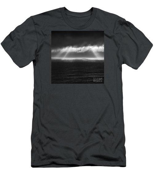 Cloudy Day At The Sae Men's T-Shirt (Slim Fit) by Gunnar Orn Arnason