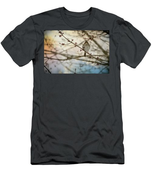 Men's T-Shirt (Slim Fit) featuring the photograph Cloudy Finch by Trish Tritz