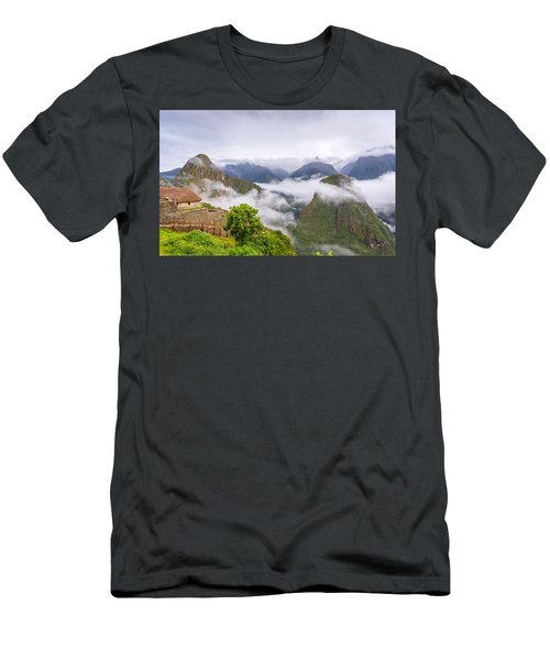 Cloudy Mountains. Men's T-Shirt (Athletic Fit)