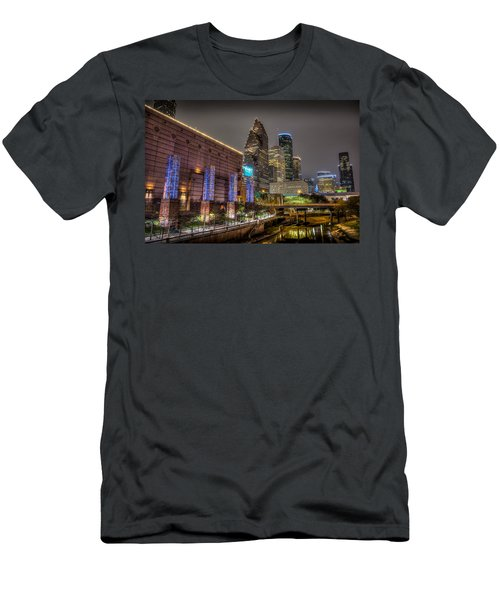 Men's T-Shirt (Athletic Fit) featuring the photograph Cloudy Night In Houston by David Morefield