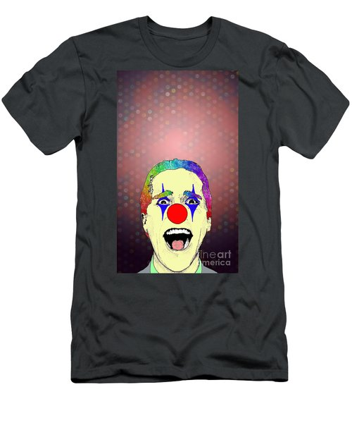 Men's T-Shirt (Slim Fit) featuring the drawing clown Christian Bale by Jason Tricktop Matthews