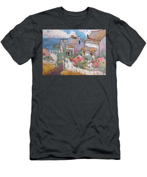 Coastal Cottages Men's T-Shirt (Athletic Fit)