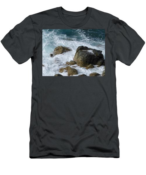 Coastal Rocks Trap Water Men's T-Shirt (Athletic Fit)