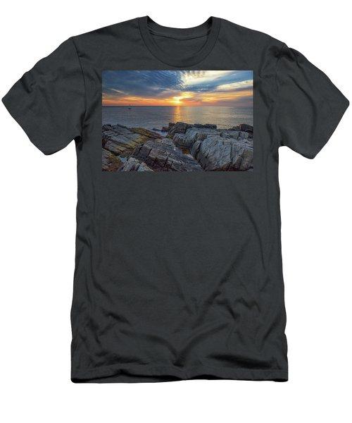 Coastal Sunrise On The Cliffs Men's T-Shirt (Athletic Fit)
