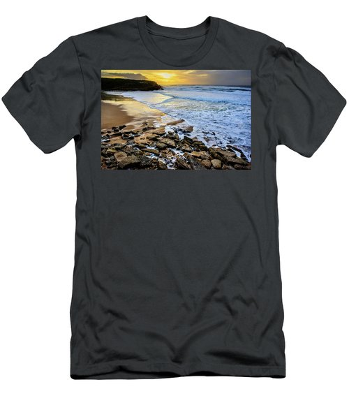 Men's T-Shirt (Slim Fit) featuring the photograph Coastal Sunset by Marion McCristall