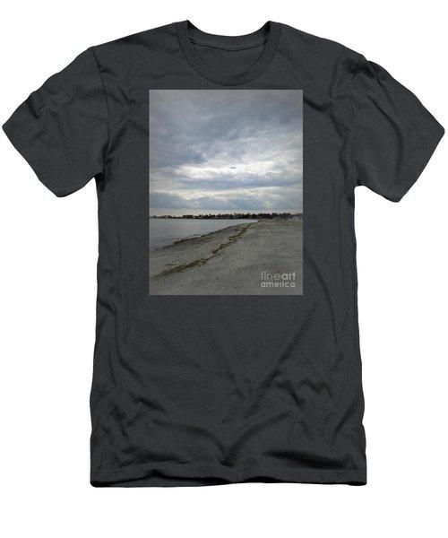 Coastal Winter Men's T-Shirt (Slim Fit) by Kristine Nora