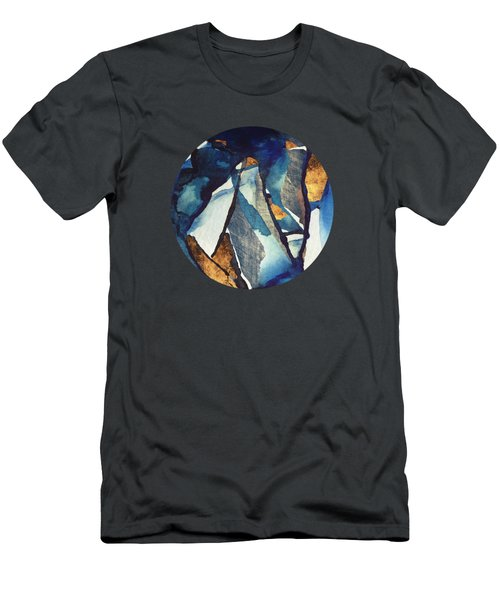 Cobalt Abstract Men's T-Shirt (Athletic Fit)