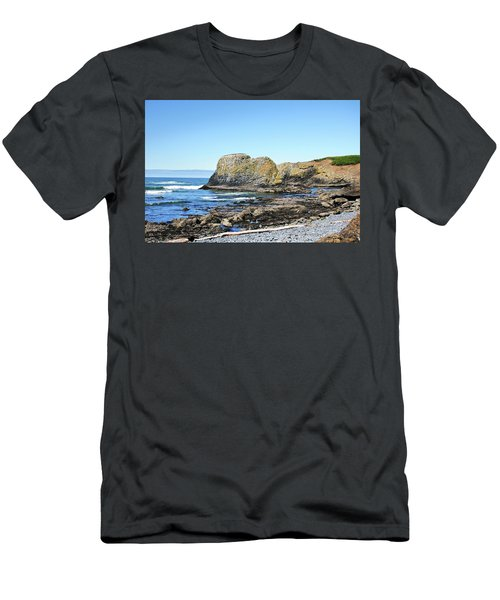 Cobblestone Beach Men's T-Shirt (Athletic Fit)