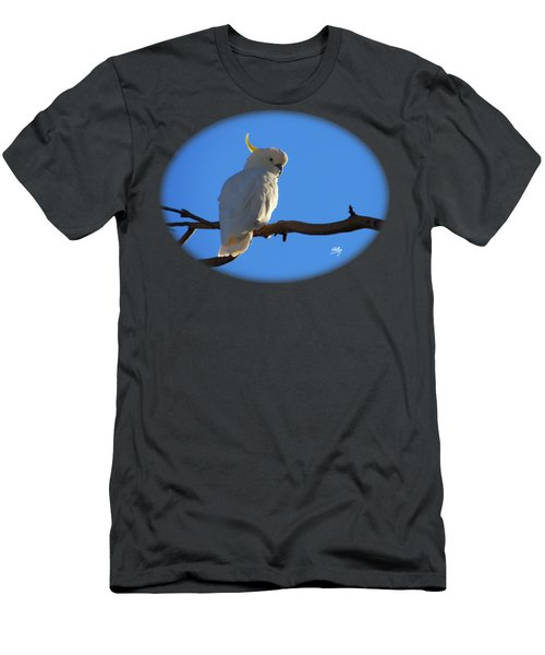 Cockatoo Men's T-Shirt (Slim Fit) by Linda Hollis