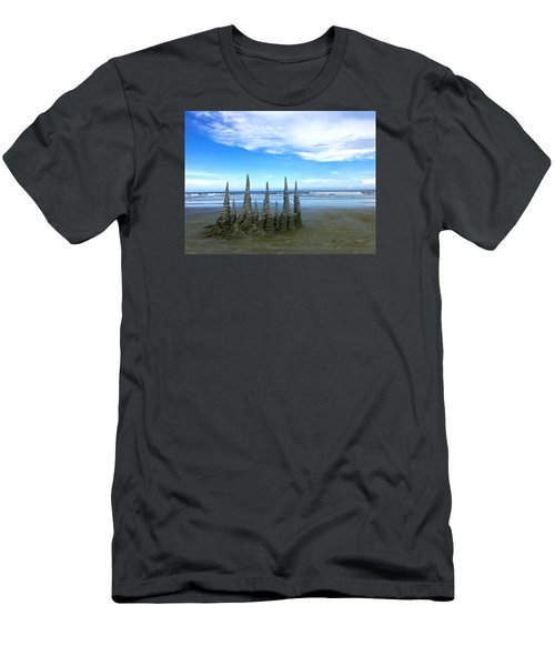 Cocoa Beach Sandcastles Men's T-Shirt (Slim Fit) by Amelia Racca