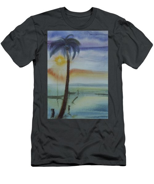 Coconut Palm Men's T-Shirt (Athletic Fit)