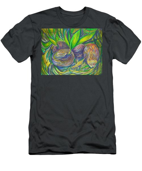 Men's T-Shirt (Slim Fit) featuring the painting Coconuts by Anna  Duyunova
