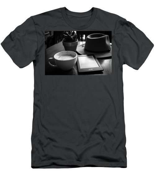 Men's T-Shirt (Athletic Fit) featuring the photograph Coffeehouse Lifestyle by Monte Stevens
