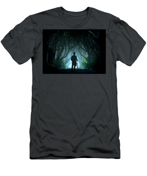 Cold Morning In Dark Hedges Men's T-Shirt (Athletic Fit)