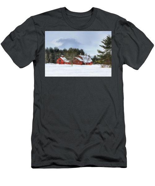 Men's T-Shirt (Slim Fit) featuring the digital art Cold Winter Days In Vermont by Sharon Batdorf