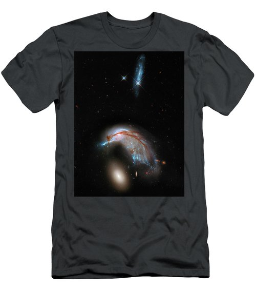 Men's T-Shirt (Slim Fit) featuring the photograph Colliding Galaxy by Marco Oliveira
