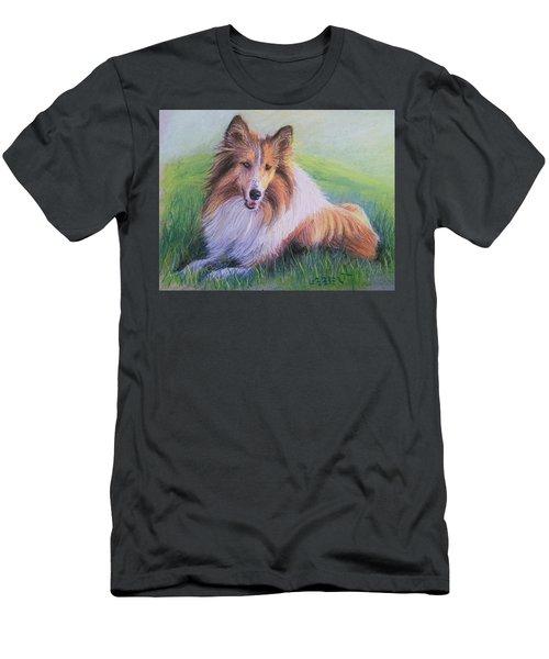 Collie Men's T-Shirt (Slim Fit) by Dave Luebbert
