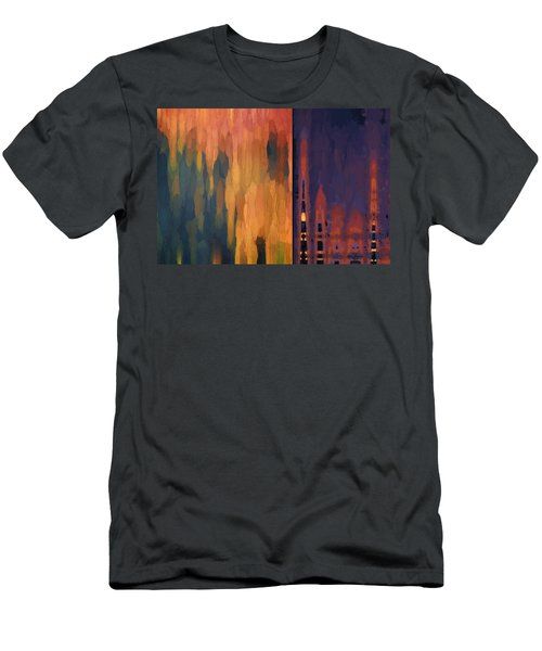 Color Abstraction Liv Men's T-Shirt (Athletic Fit)