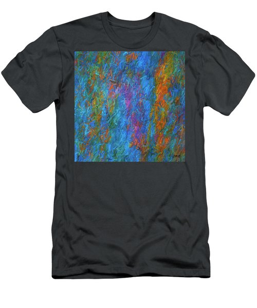 Color Abstraction Xiv Men's T-Shirt (Slim Fit) by David Gordon