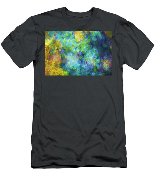 Color Abstraction Xliv Men's T-Shirt (Athletic Fit)