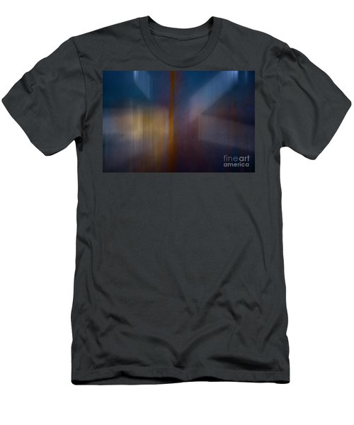 Color Abstraction Xxix Men's T-Shirt (Slim Fit) by David Gordon