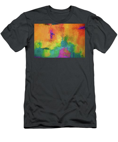 Color Abstraction Xxxiv Men's T-Shirt (Athletic Fit)