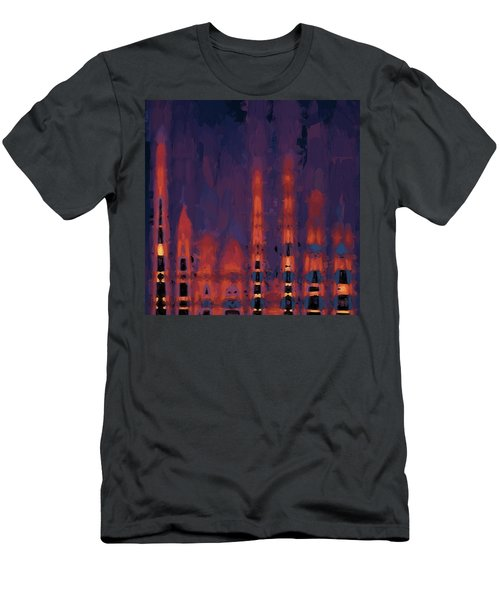 Color Abstraction Xxxviii Men's T-Shirt (Slim Fit) by Dave Gordon