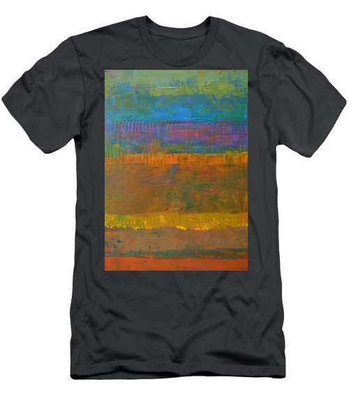Men's T-Shirt (Slim Fit) featuring the painting Color Collage One by Michelle Calkins