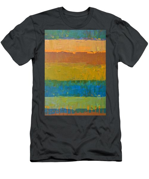 Men's T-Shirt (Slim Fit) featuring the painting Color Collage Three by Michelle Calkins