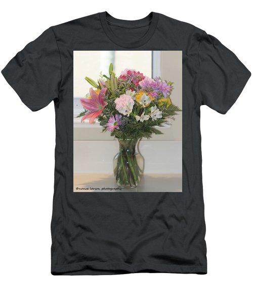 Color Me Happy Men's T-Shirt (Slim Fit) by Nance Larson