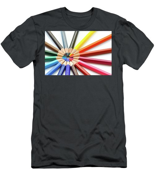 Color Pencils Men's T-Shirt (Athletic Fit)