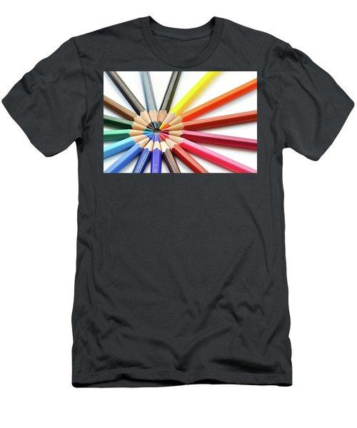 Color Pencils Men's T-Shirt (Athletic Fit)