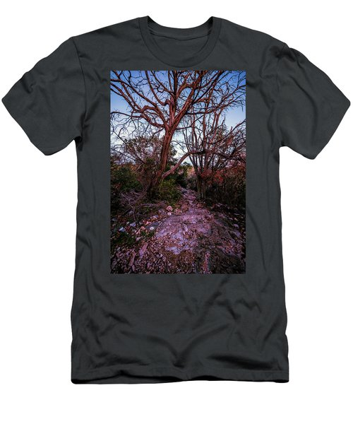Colorado Bend State Park Gorman Falls Trail #3 Men's T-Shirt (Slim Fit) by Micah Goff
