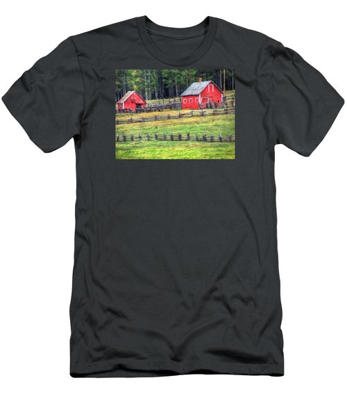 Colorado Countryside  Men's T-Shirt (Slim Fit) by Charlotte Schafer