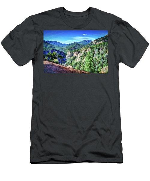 Colorado Haven Men's T-Shirt (Slim Fit) by Deborah Klubertanz