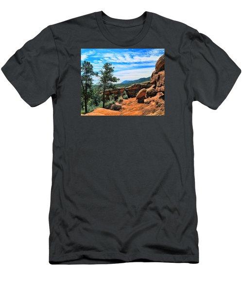 Colorado Rocks Men's T-Shirt (Slim Fit) by John Bushnell