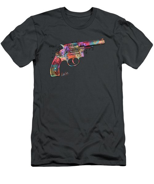 Colorful 1896 Wesson Revolver Patent Men's T-Shirt (Athletic Fit)