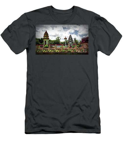 Colorful Architecture Siem Reap Cambodia  Men's T-Shirt (Athletic Fit)
