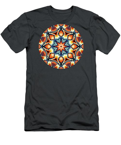 Colorful Concentric Motif Men's T-Shirt (Slim Fit) by Phil Perkins