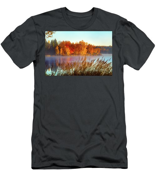 Colorful Dawn On Haley Pond Men's T-Shirt (Athletic Fit)