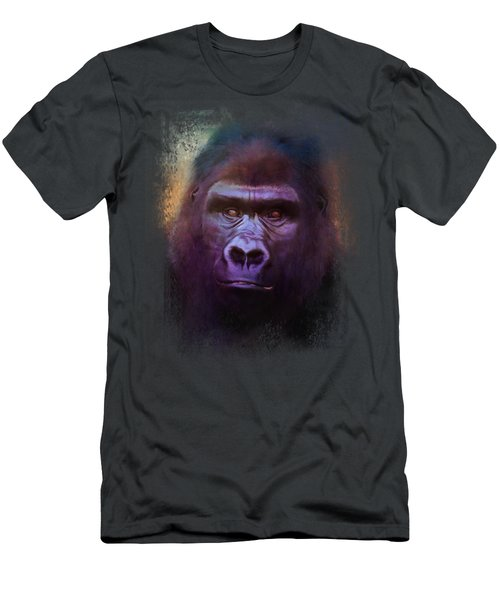 Colorful Expressions Gorilla Men's T-Shirt (Slim Fit) by Jai Johnson