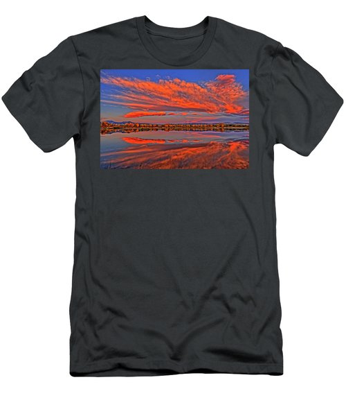 Men's T-Shirt (Slim Fit) featuring the photograph Colorful Fall Morning by Scott Mahon